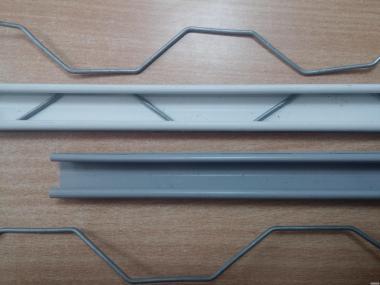Кріплення тепличної плівки, профіль зіг-заг