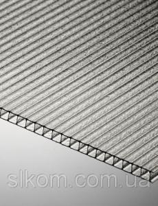 Полікарбонат стільниковий Polygal Практичний 6 мм 2100x6000 мм прозорий
