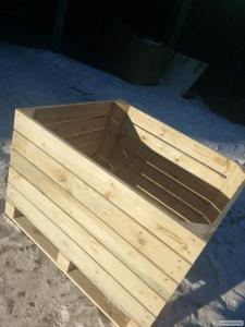 контейнеры деревянные для яблока