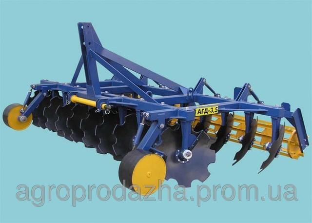 АГД-3.5 агрегатується з тракторами мтз-1025/т-150смд
