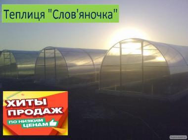 Теплиці Слов'яночка від виробника під полікарбонат та плівку