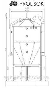 Бункер для кормів 3 т, 5 м3