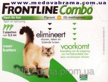 Фронтлайн Комбо (Меріал, Франція) для кішок — краплі на холку