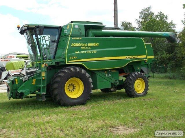 Зернозбиральний комбайн John Deere C670 Рік випуску 2009.