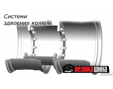 Сдвоенные колеса барабанного типа