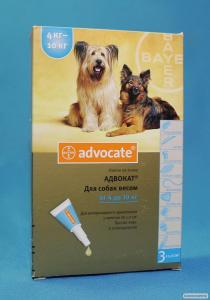 Краплі Адвокат для собак 4-10 кг (1 піпетка)