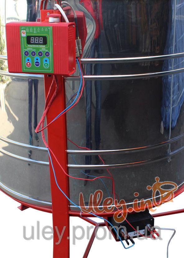 6-ти рамочная «ЕВРО» Медогонка, с поворотом кассет, нержавеющая