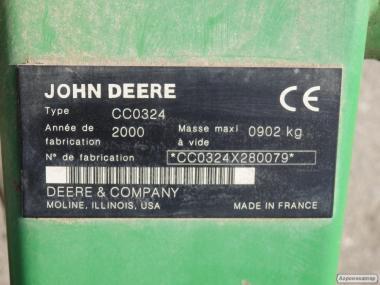 Косарка плющилка Джон Дір 324 2.4 м. Косарка John Deere навісна