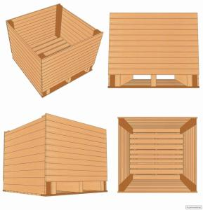 Контейнер дерев'яний (ящик для часнику) часниковий + дуб