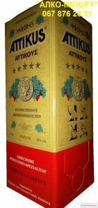 Оригінальний грецький бренді Attikus 2 L тетрапак, гуртом і в роздріб