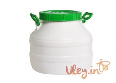 Бидон пищевой пластмассовый, 30 л. Горловина 220 мм. (сертифицированные)