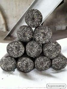 Топливные брикеты из чистой дробленой лузги (шелухи) подсолнуха