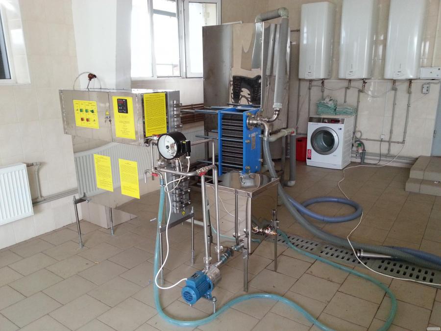Пастеризатор молока инфракрасный 500 л/ч УЗМ-0,5