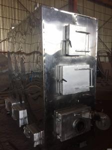 Твердопаливний масляний котел з автоматичною подачею палива(лушпиння,