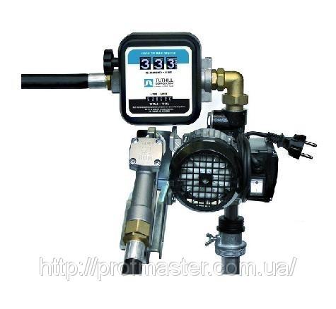 Насос бочковой для дизельного топлива 220В, 60 л/мин со счетчиком
