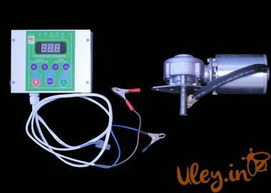 Привід медогонки електричний горизонтальний напруга 12 В «Євро»(алюмінієвий корпус редуктора)