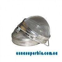 Фільтр для меду двосекційний напівкруглий нержавійка (D-200 мм)