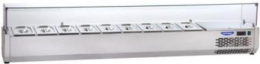 Охолоджувана вітрина гнуте скло Tecnodom VR4 150 V