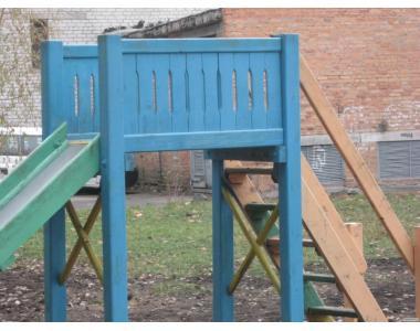 Елементи   дитячого майданчику:  пісочниця