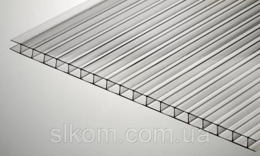 Полікарбонат стільниковий Polygal Тепличний 4 мм 2100x6000 мм прозорий