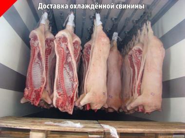 Свинина в напівтушах охолоджена в Донецьку