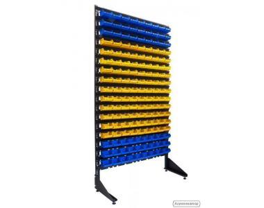 Торговий стелаж 1,8 м + 153 пластикових ящиків