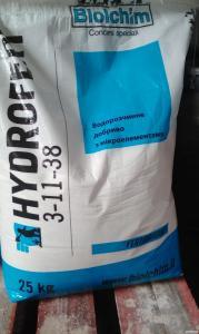 Микроудобрение Гідроферт 3.11.38+Mg - 4%, S - 25%