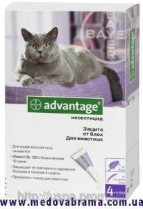 Краплі від бліх Адвантікс ® 80 (Аdvantage) для кішок від 4 кг