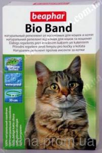 БІФАР Біо Бенд (Bio Band Plus) нашийник для кошенят і кішок від бліх, кліщів і комарів (зелений) (35 см)