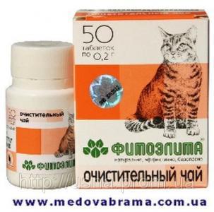 Фитоэлита очистительный чай для кошек, Веда, Россия (50 таблеток)