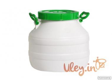 Бидон пищевой пластмассовый, 30 л. Горловина 220 мм. (сертифицированны