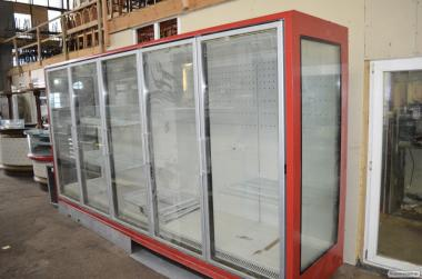Горка холодильная  выносной холод  б/у Регал  Linde  4 м. Шкаф холоди