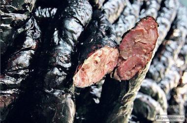 Домашняя черная колбаса. 100%  натуральная.
