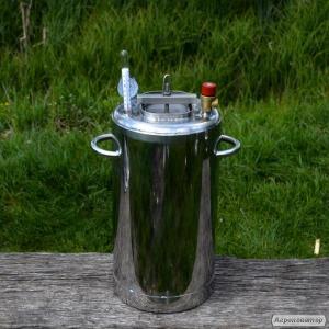 Автоклав огневой из нержавейки 35 л (на 28 банок 0,5л)