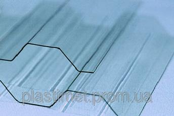 Профильный поликарбонат (прозрачный шифер) Suntuf (1,26х2м) прозрачный