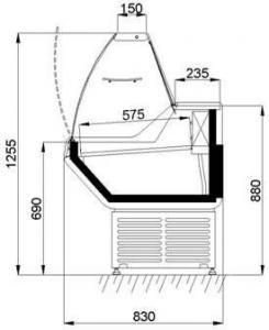 Холодильна вітрина Оріон 1,3 1,5 1,8 Аріада