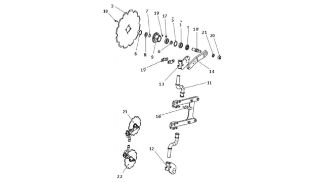 Запчастини для дискового сошника Unia B Vario