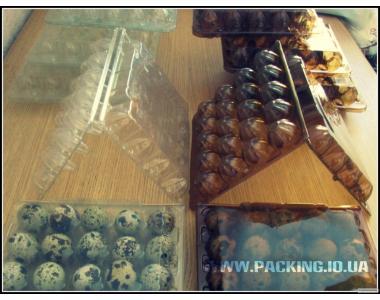 Продам: Упаковка пластиковая прозрачная для яиц перепелиных