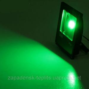Светодиодный прожектор LED 30Вт 515-530nm (зеленый), IP66