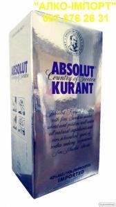 Водка Absolut Kurant (черная смородина) 2 L тетрапак, оптом и в розницу