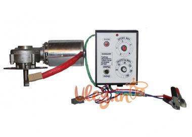 Привід медогонки електричний горизонтальний напруга 12 В (алюмінієвий корпус редуктора)