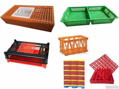 Ящики для перевозки курей, бройлера, перепілки, курчат, яєць