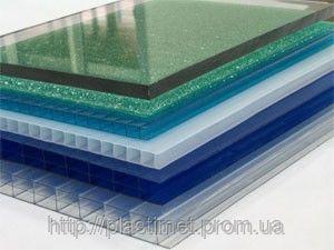 Поликарбонат Italon, бронза, опал, красный, синий, зеленый 6000х2100х8 мм