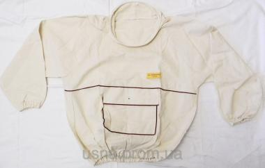 Куртка пчеловода без маски (лен, двунитка) р. 48-64