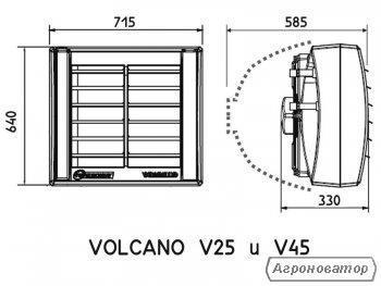 Тепловентилятор Водяний Volcano V45