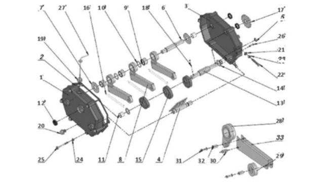 Запчастини коробки передач для зернової сівалки Unia, Polonez