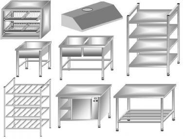 Підставка під пароконвектомат і печі з нержавіючої сталі (нержавіюча сталь)