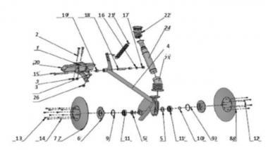 Сошник довгий для зернової сівалки Unia, Mazur