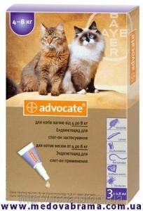 Засіб від бліх для котів 4-8 кг АДВОКАТ