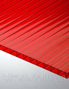 ПК сотовый Polygal 8 мм, красный, 2100х6000 СТАНДАРТ